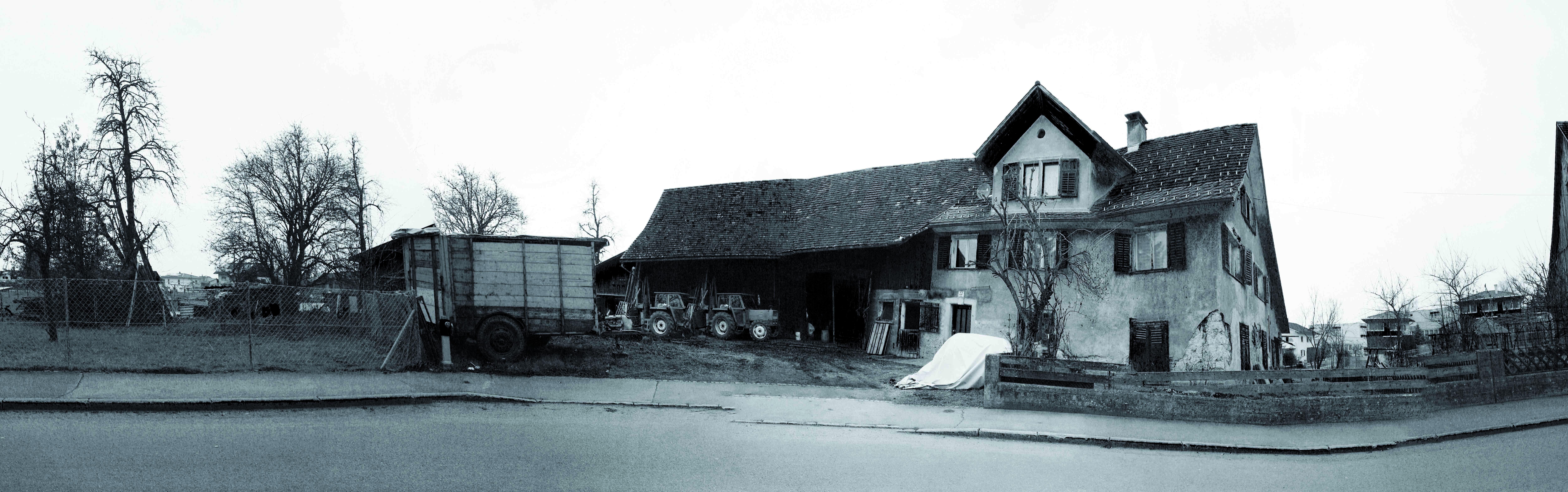 Der letzte wirkliche Bauernhof in der Hanggasse